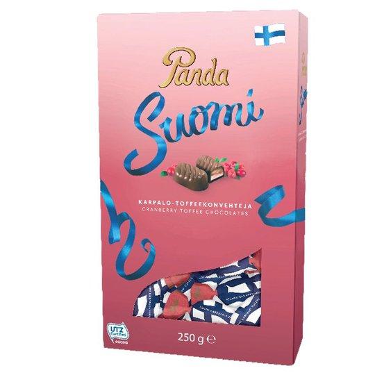 """Mjölkchokladkonfekt """"Toffee & Tranbär"""" 250g - 62% rabatt"""