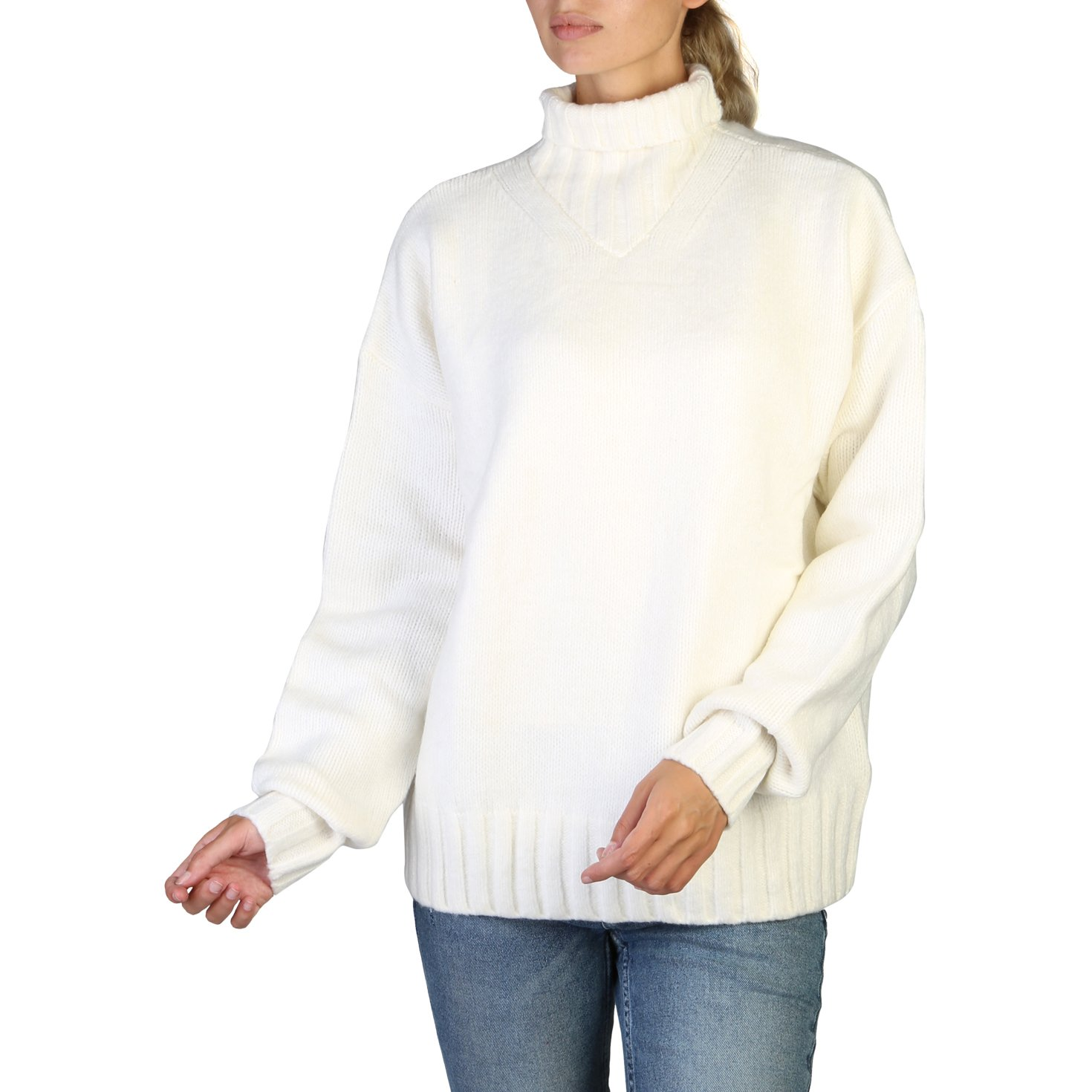 Calvin Klein Women's Sweaters Black 349515 - white S