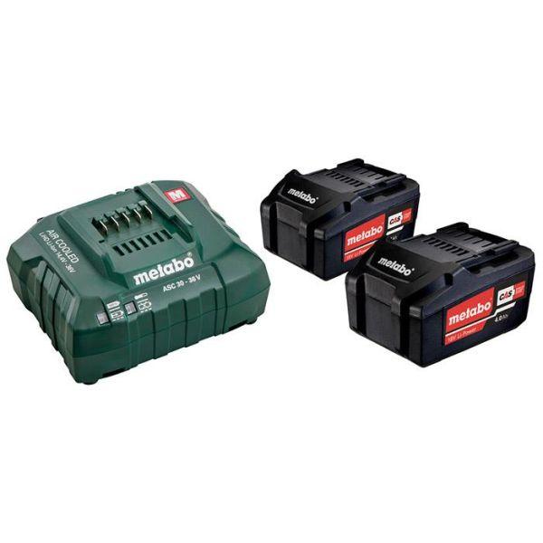 Metabo Bas-set Ladepakke med 2 stk 4,0Ah batterier og lader