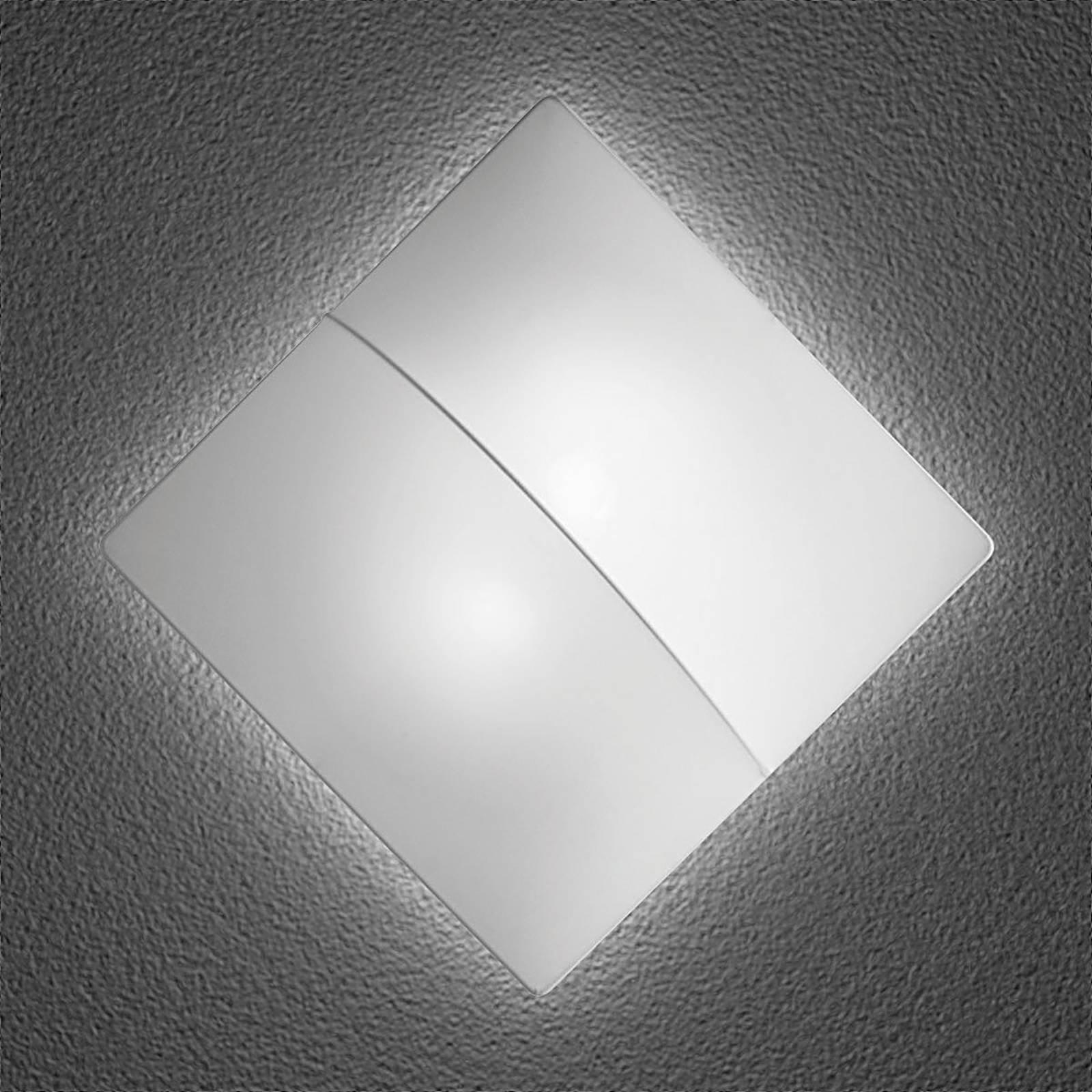 Nelly S - firkantet vegglampe med stoff, 60cm
