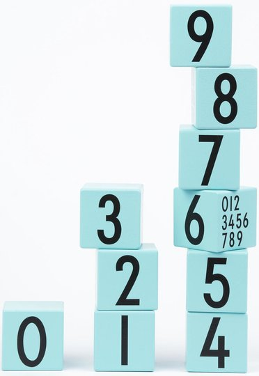 Design Letters Klosser 0-9, Turkis