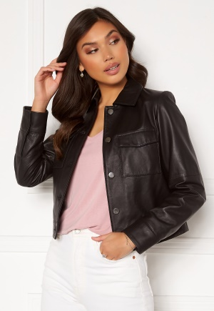JOFAMA Lynn Leather Jacket Black 44