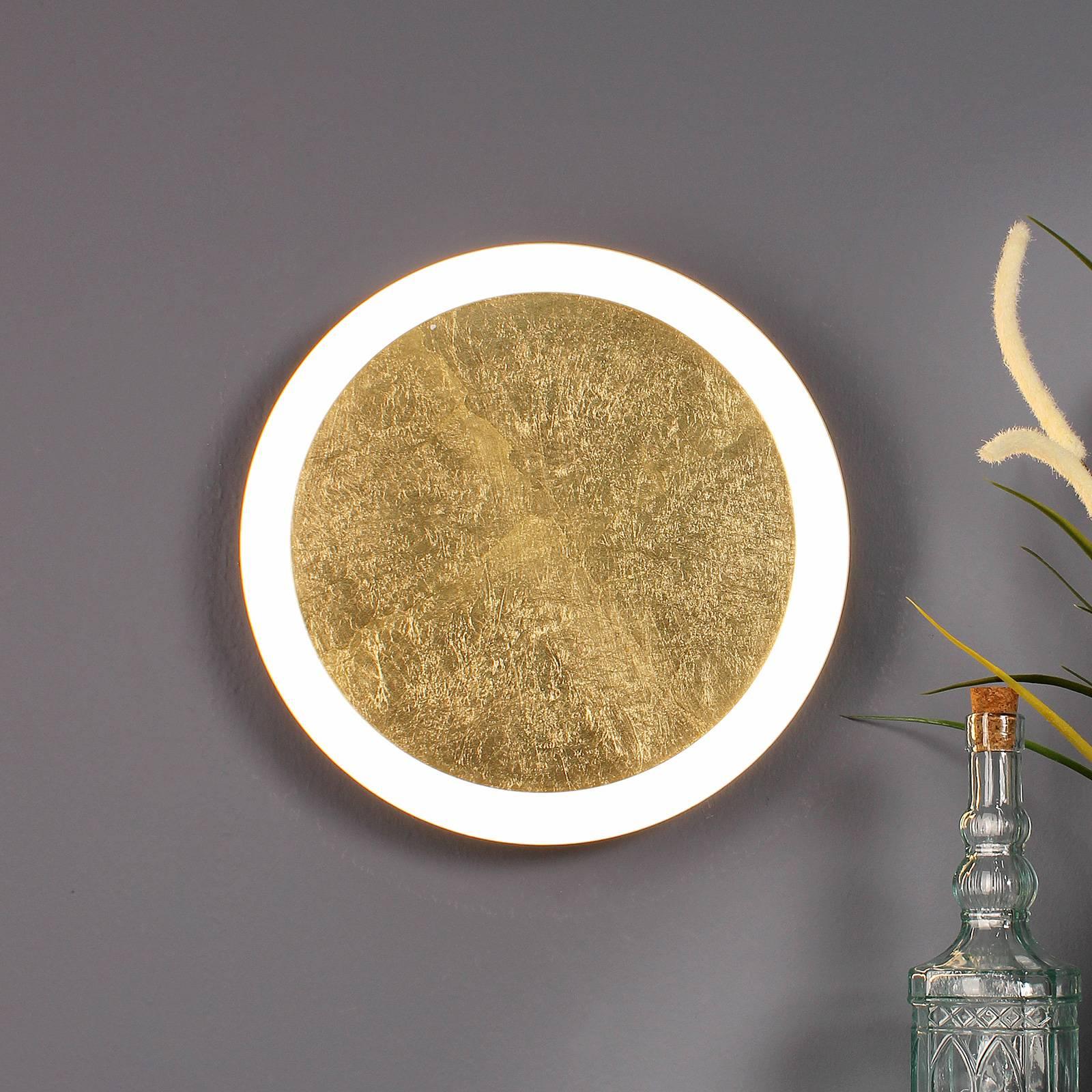 LED-seinävalaisin Moon Ø 40 cm, kulta