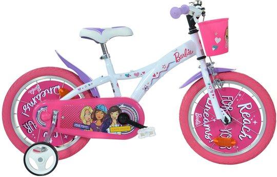 Barbie Sykkel 12 Tommer, Hvit/Rosa