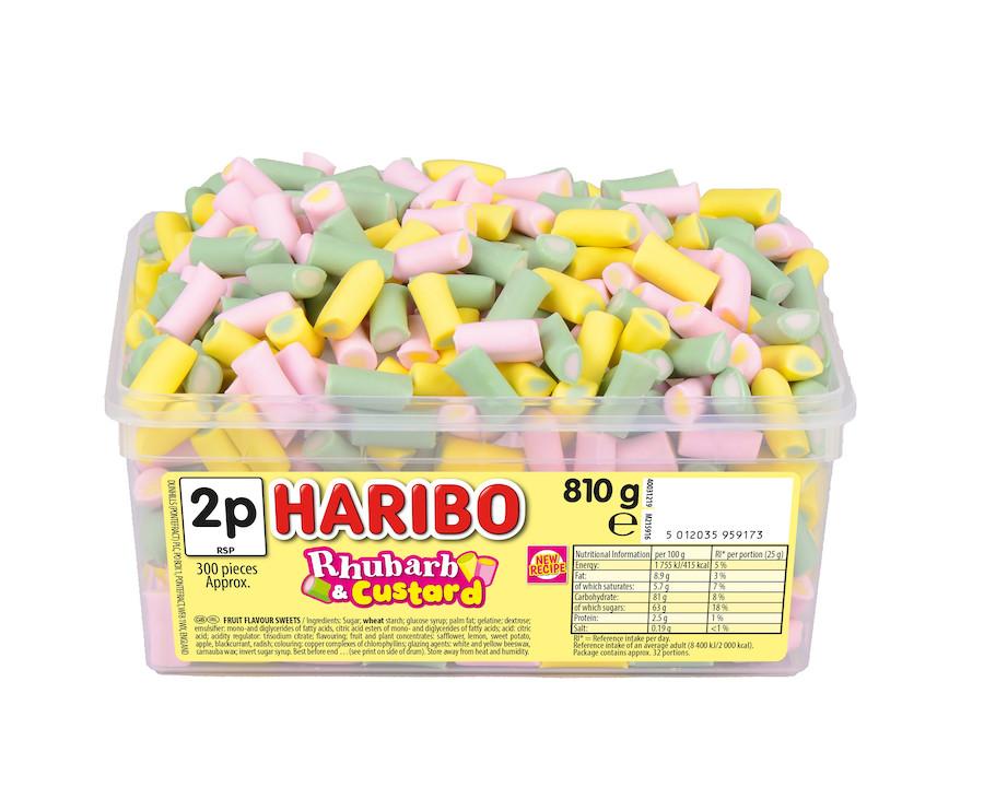 Haribo Rhubarb & Custard 810g
