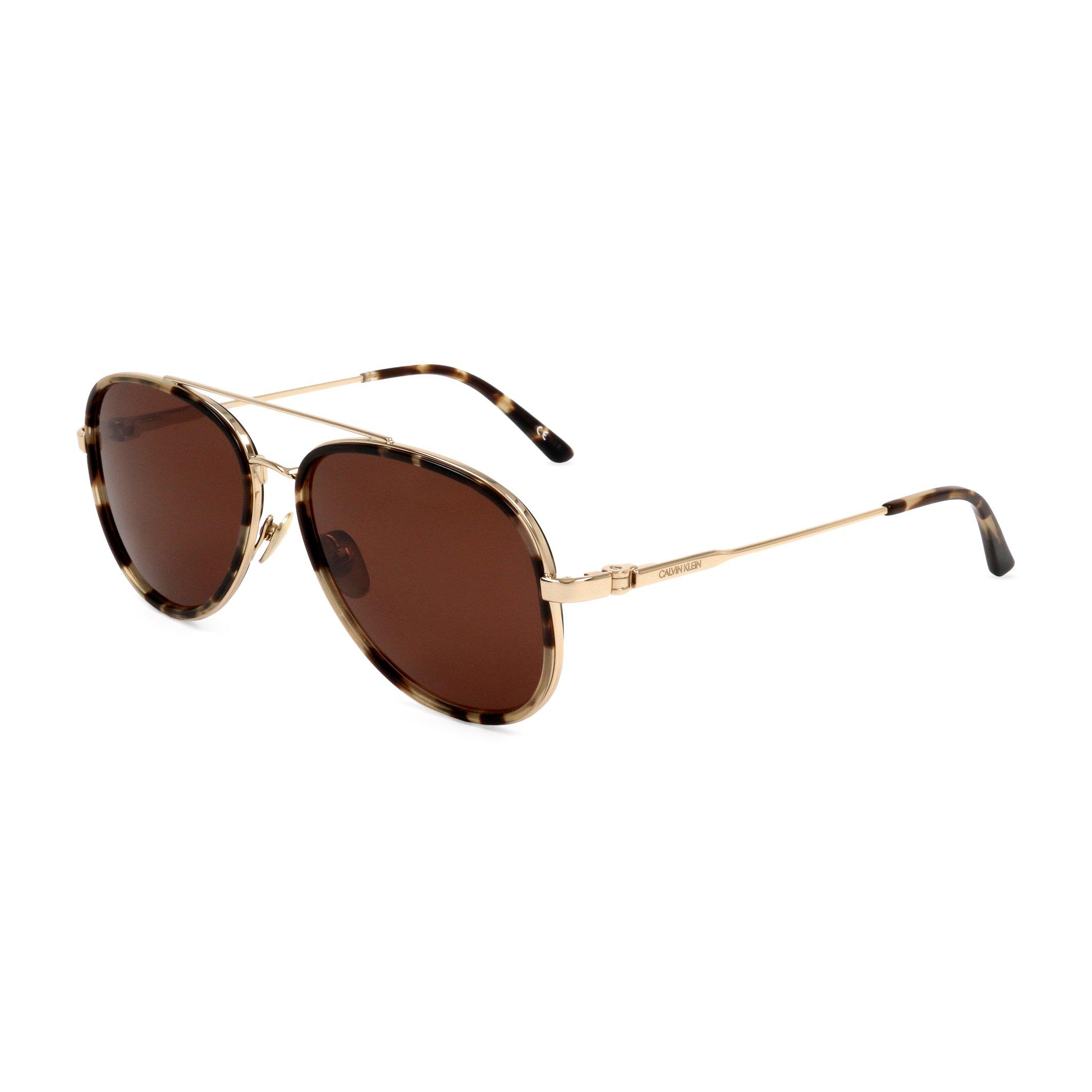 Calvin Klein Unisex Sunglasses White CK18103S - brown NOSIZE
