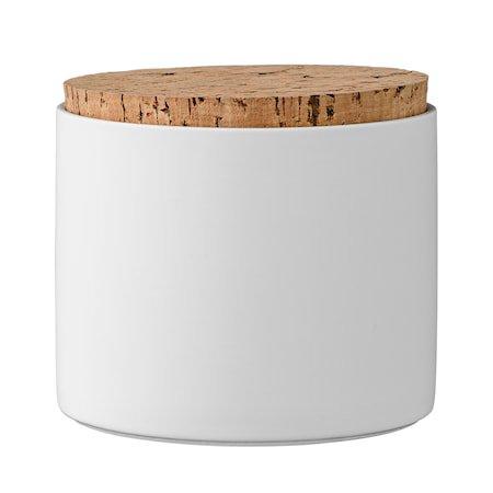 Boks med lokk Hvit Porselen 11x11,8cm