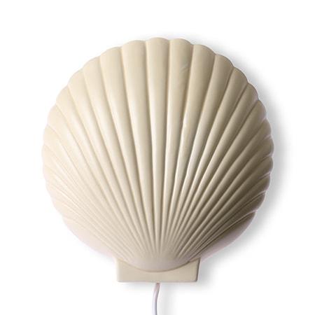 HKliving Suites Special: Ceramic shell Vägglampa Pastel yellow