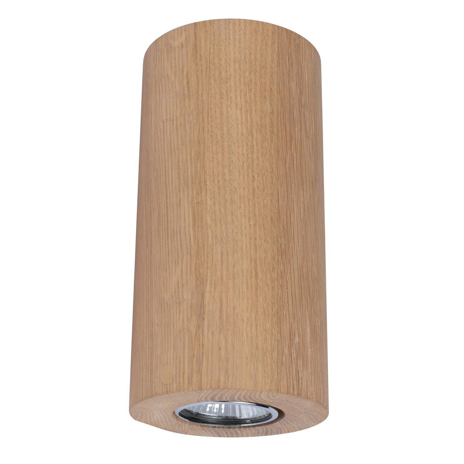 Vegglampe Wooddream 1 lyskilde eik, rund, 20 cm