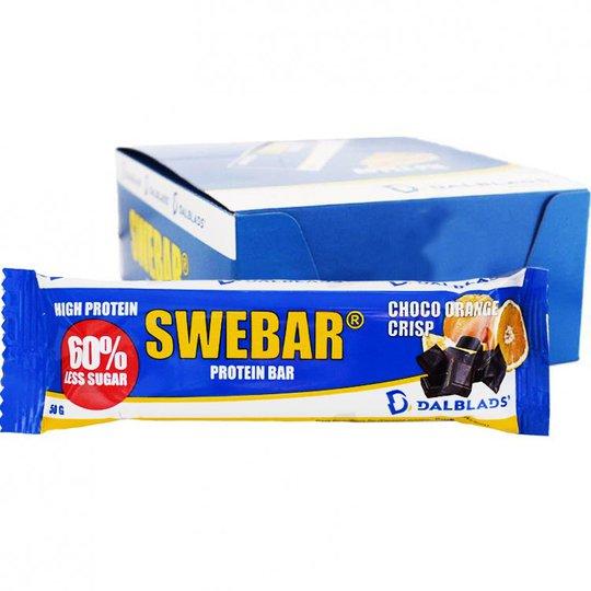 "Hel Låda Proteinbar ""Choco Orange Crisp"" 20 x 50g - 40% rabatt"