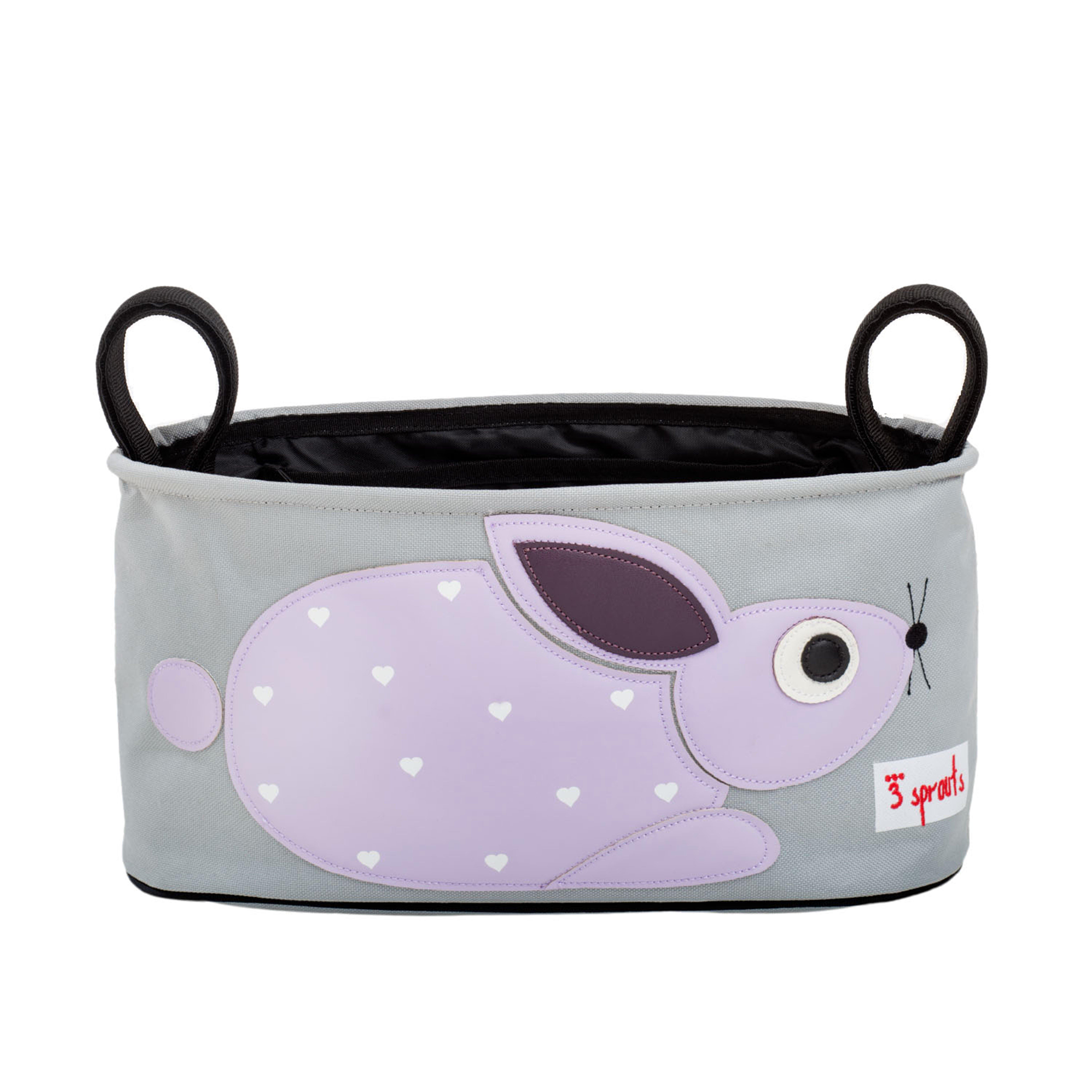 3 Sprouts - Stroller Organizer - Purple Rabbit