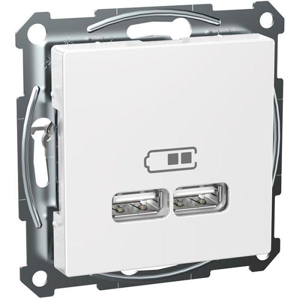 Schneider Electric Exxact WDE002926 Ladestasjon 2 USB, hvit