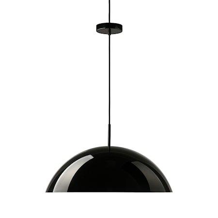 acrylic cupola pendant lamp black