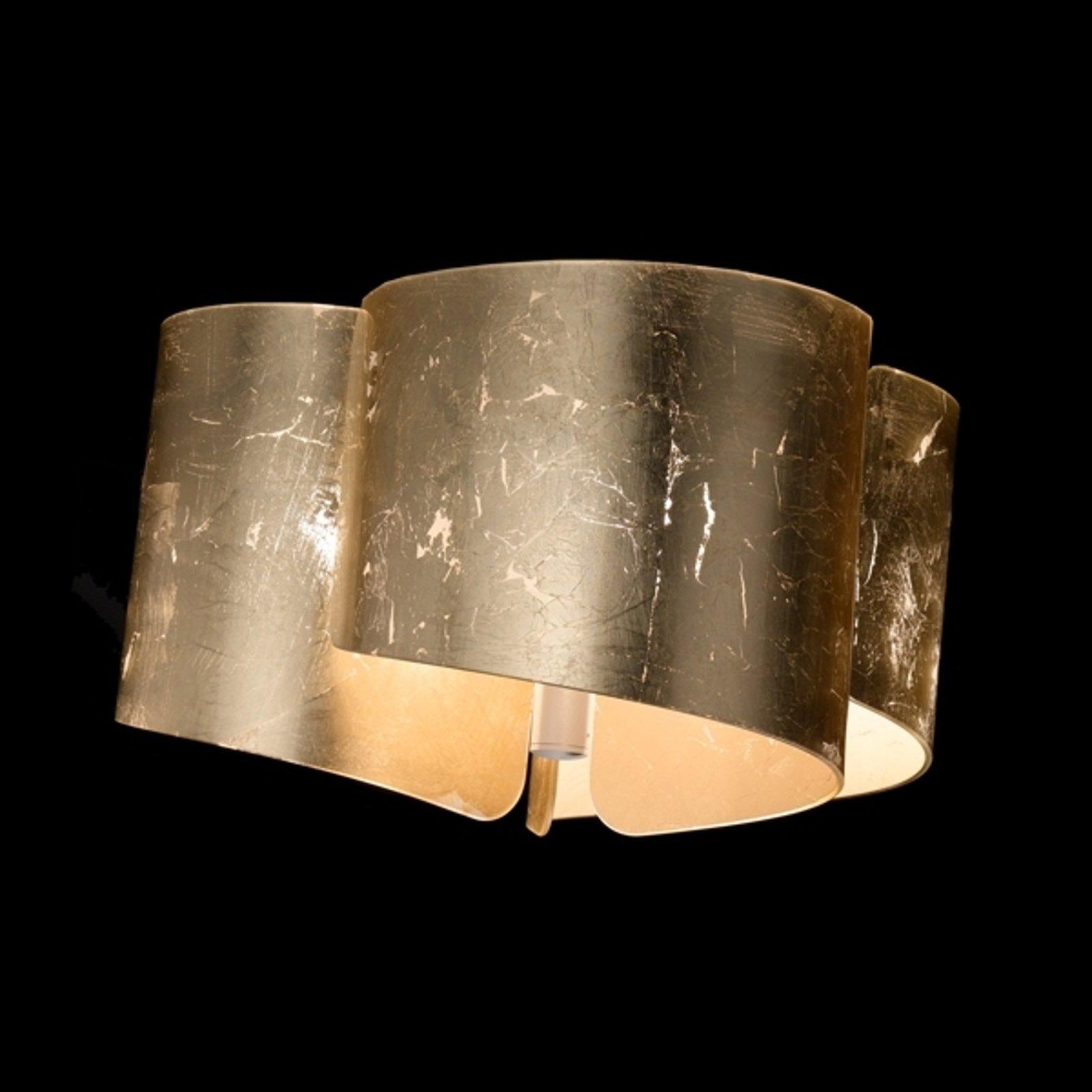 Effektfull taklampe Papiro gull