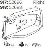 Lamphållare 918 höger