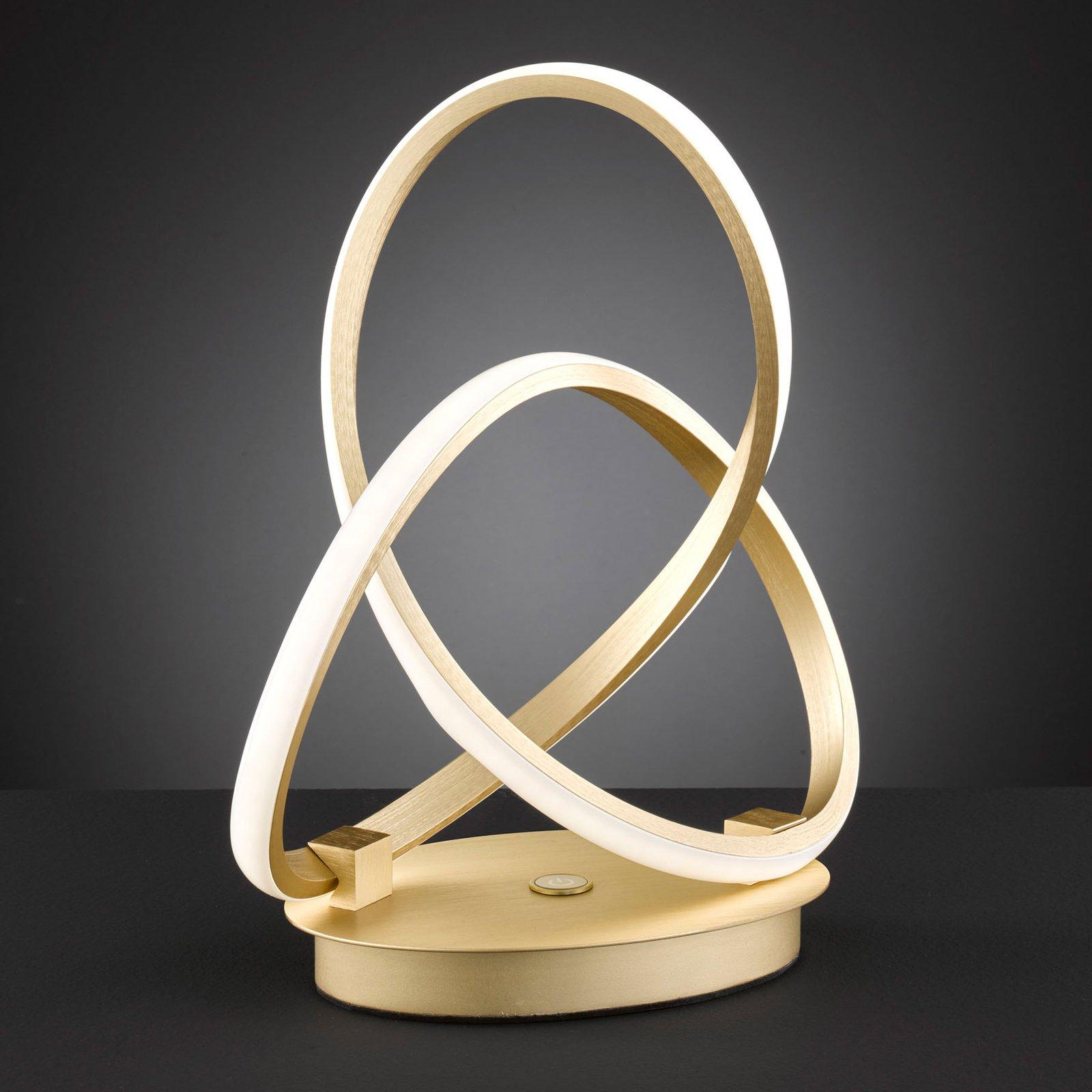 LED-bordlampe indigo, gull matt
