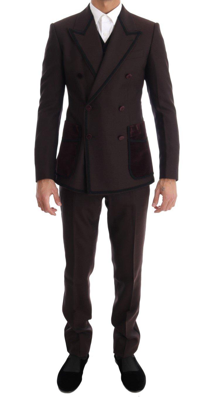 Dolce & Gabbana Men's Torero 3 Piece SICILIA Suit Bordeaux KOS1086 - IT44 | XS