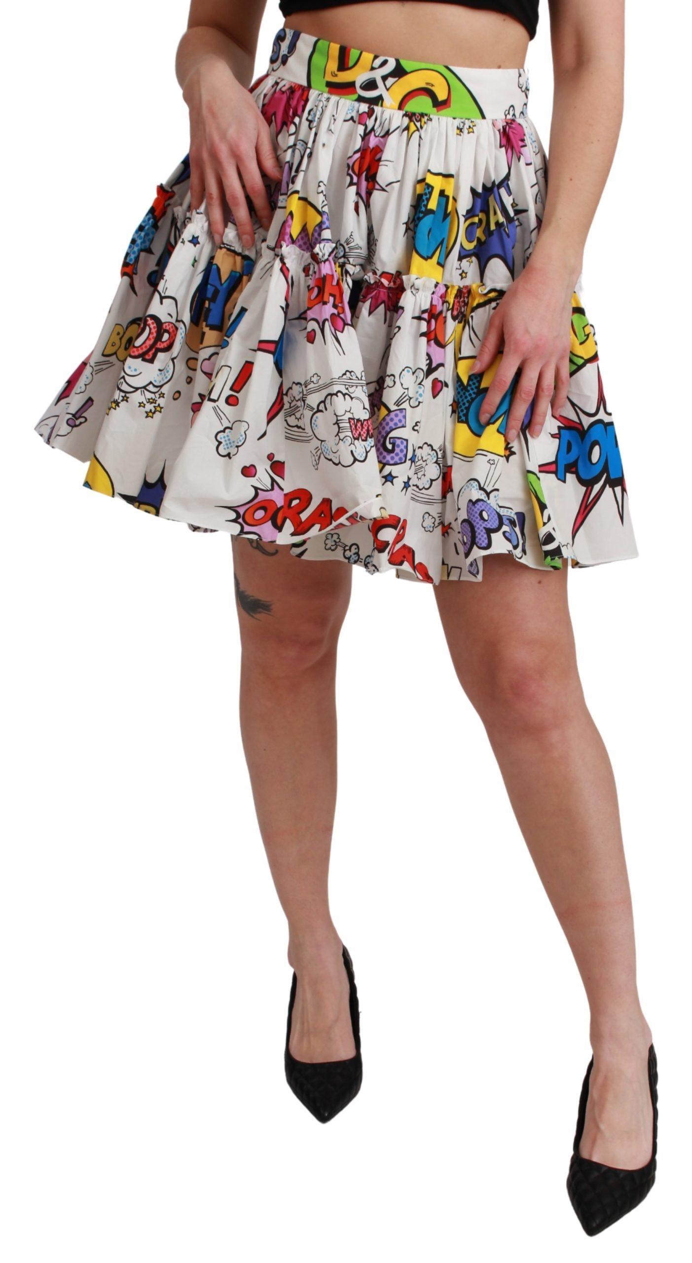 Dolce & Gabbana Women's Waist A-line Mini Cartoon Skirt SKI1438 - IT36 | XS