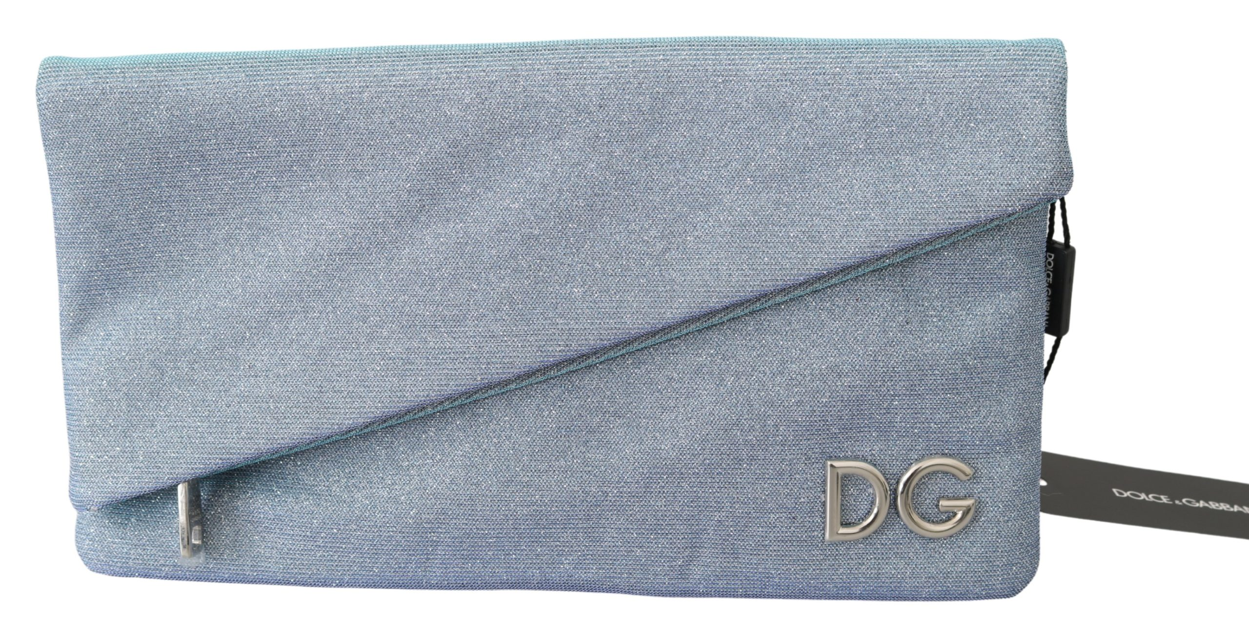 Dolce & Gabbana Women's DG Logo Canvas CLEO Handbag Light Blue VAS9788