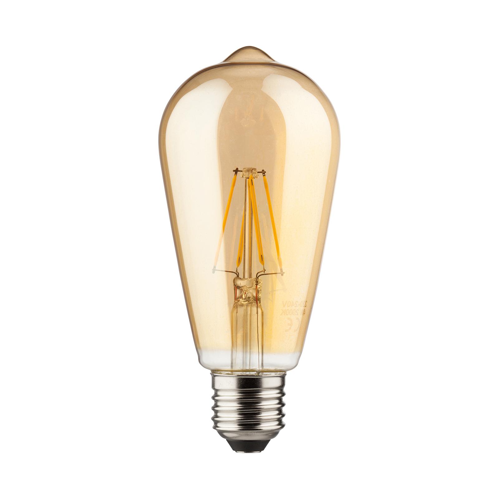 E27 7W rustiikki LED-lamppu, kulta