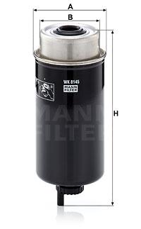 Polttoainesuodatin MANN-FILTER WK 8145