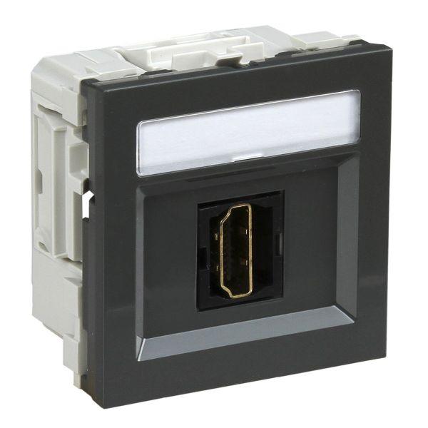 Schneider Electric INS64211 Multimedieuttak HDMI Grå