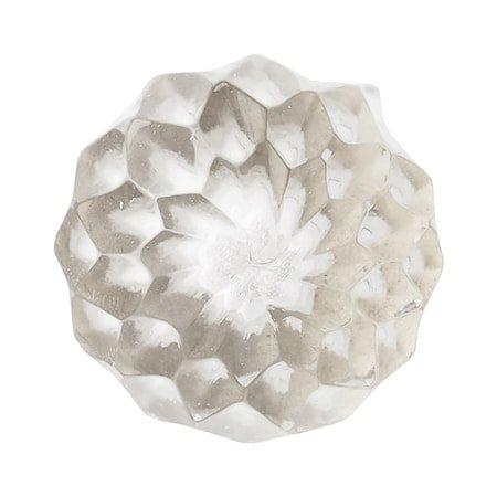 Nobilia Knopp Ø2,5 cm - Klar/sølv