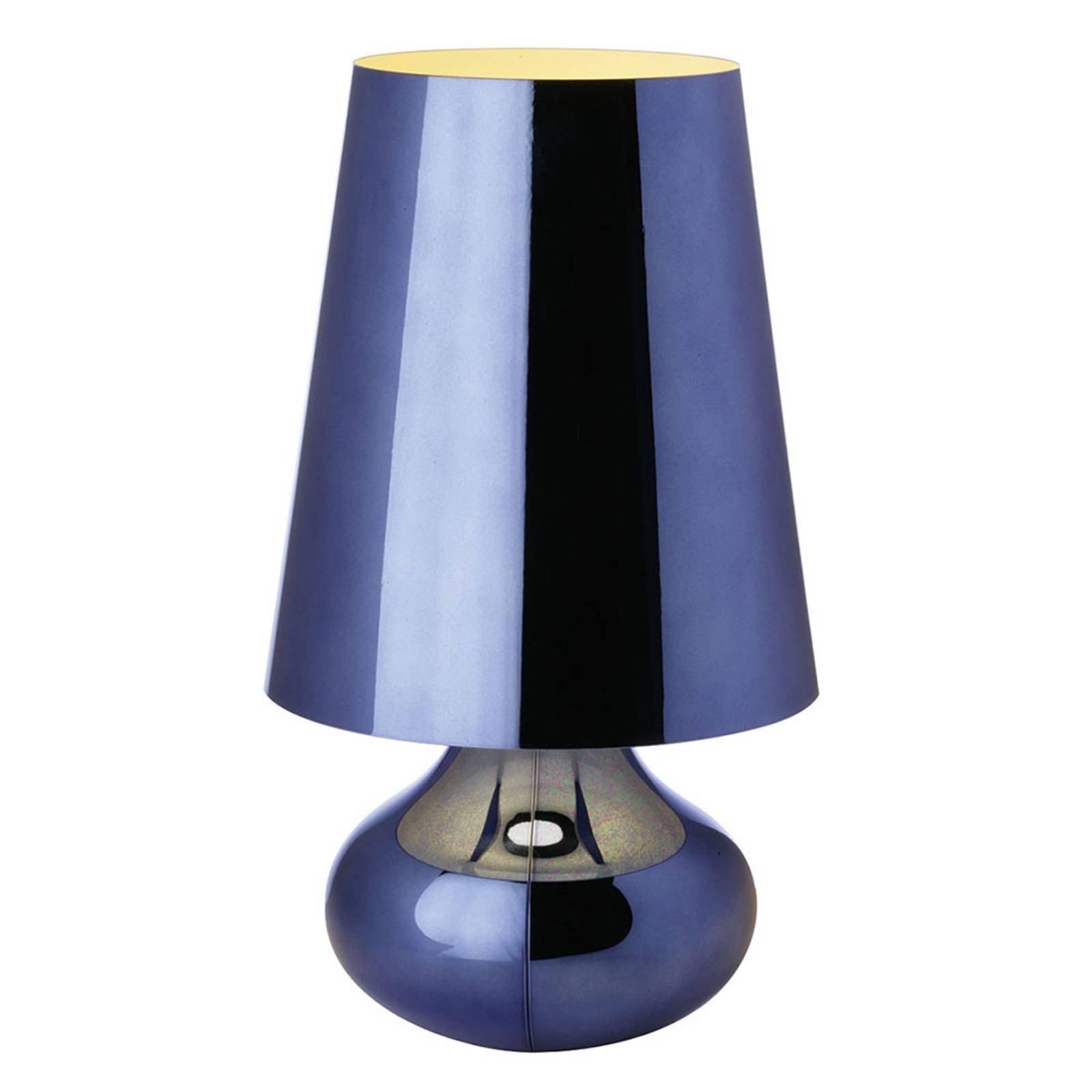 Nattbordslampe Cindy med LED, metallisk blå