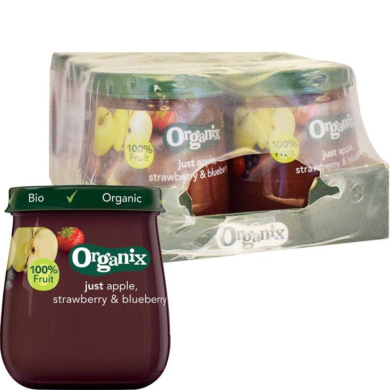 Luomu Lastenruokaa Apple, Strawberry & Blueberry 6kpl - 29% alennus