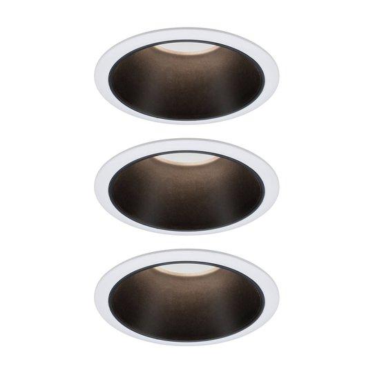 Paulmann Cole LED-Spotlight, musta-valkoinen 3 kpl