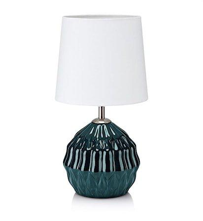 Lora Bordlampe 1L Grønn/Hvit