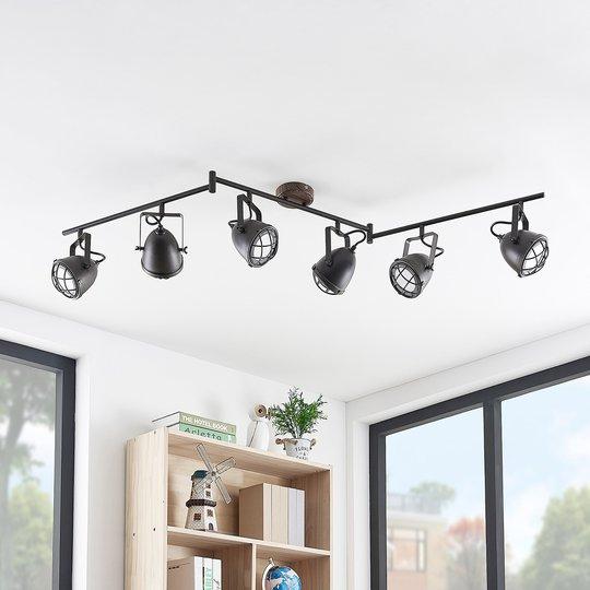 Lindby Adeon -LED-kattovalaisin, kuusilamppuinen