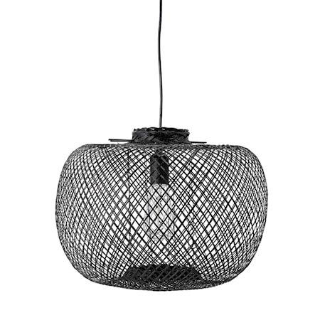Pendel Lampe Svart Bambus