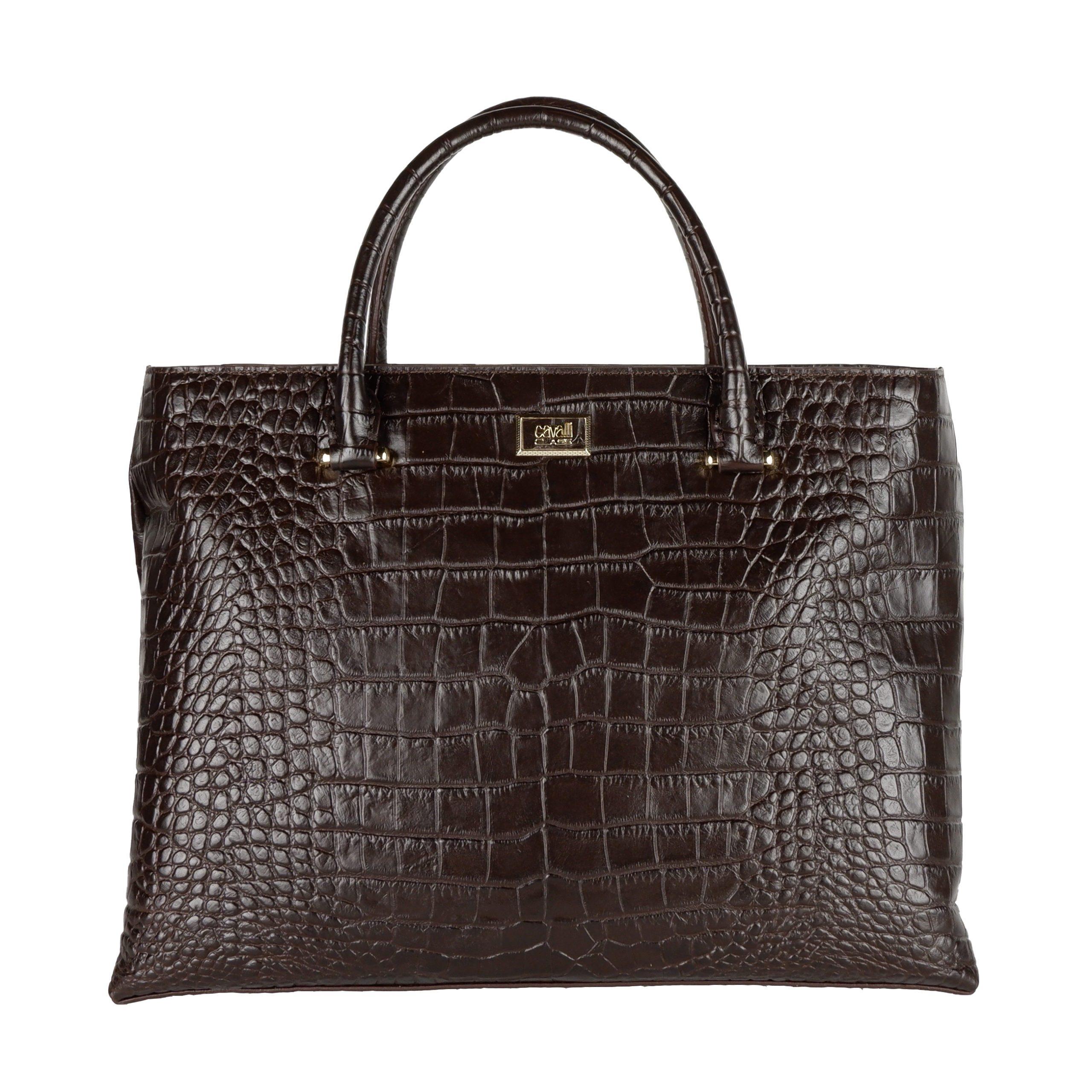 Cavalli Class Women's Handbag Dark Brown CA1421196