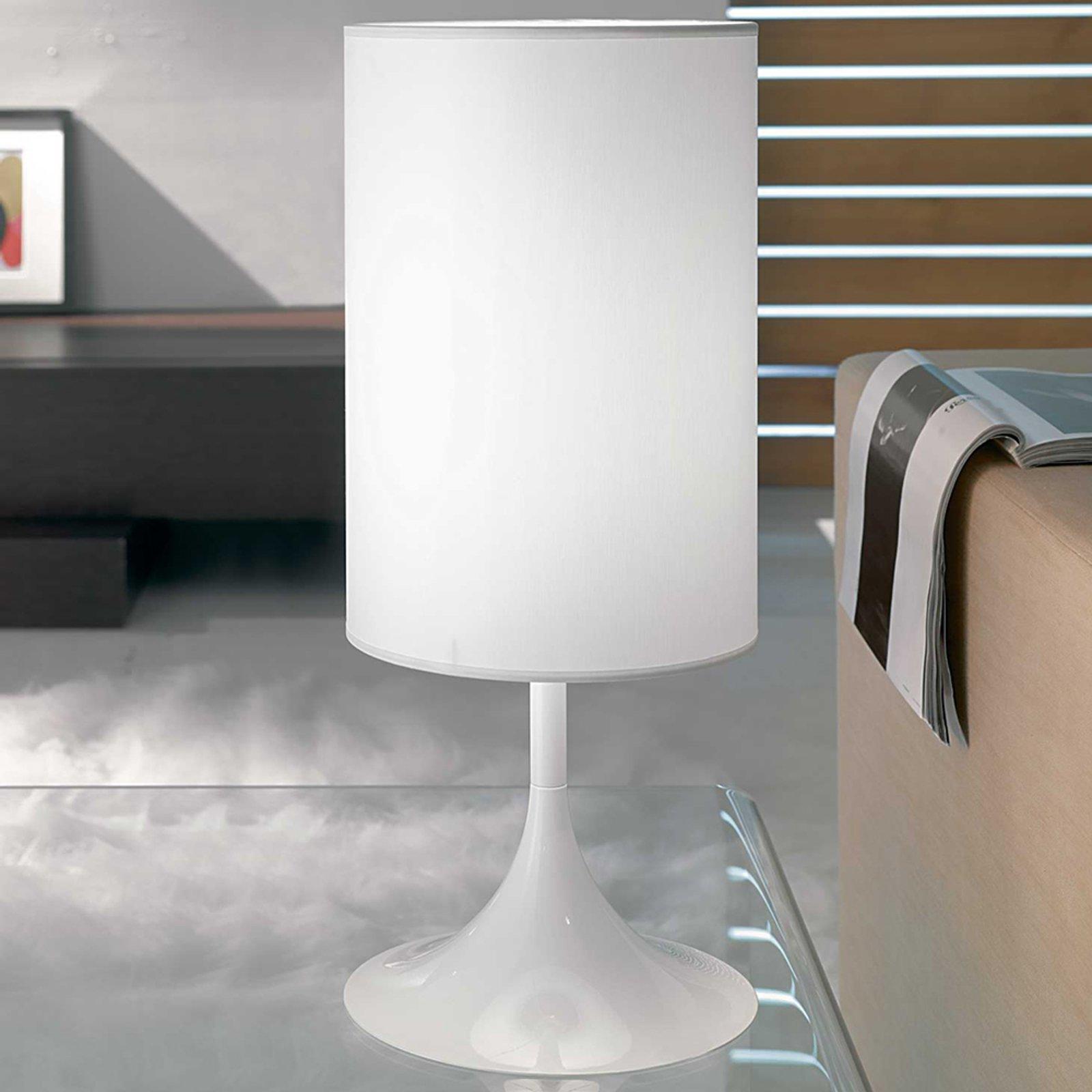 Flute hvit bordlampe 55 cm