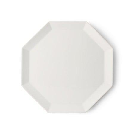 Athena Ceramics Octagonal Tallerken Hvit 27 cm