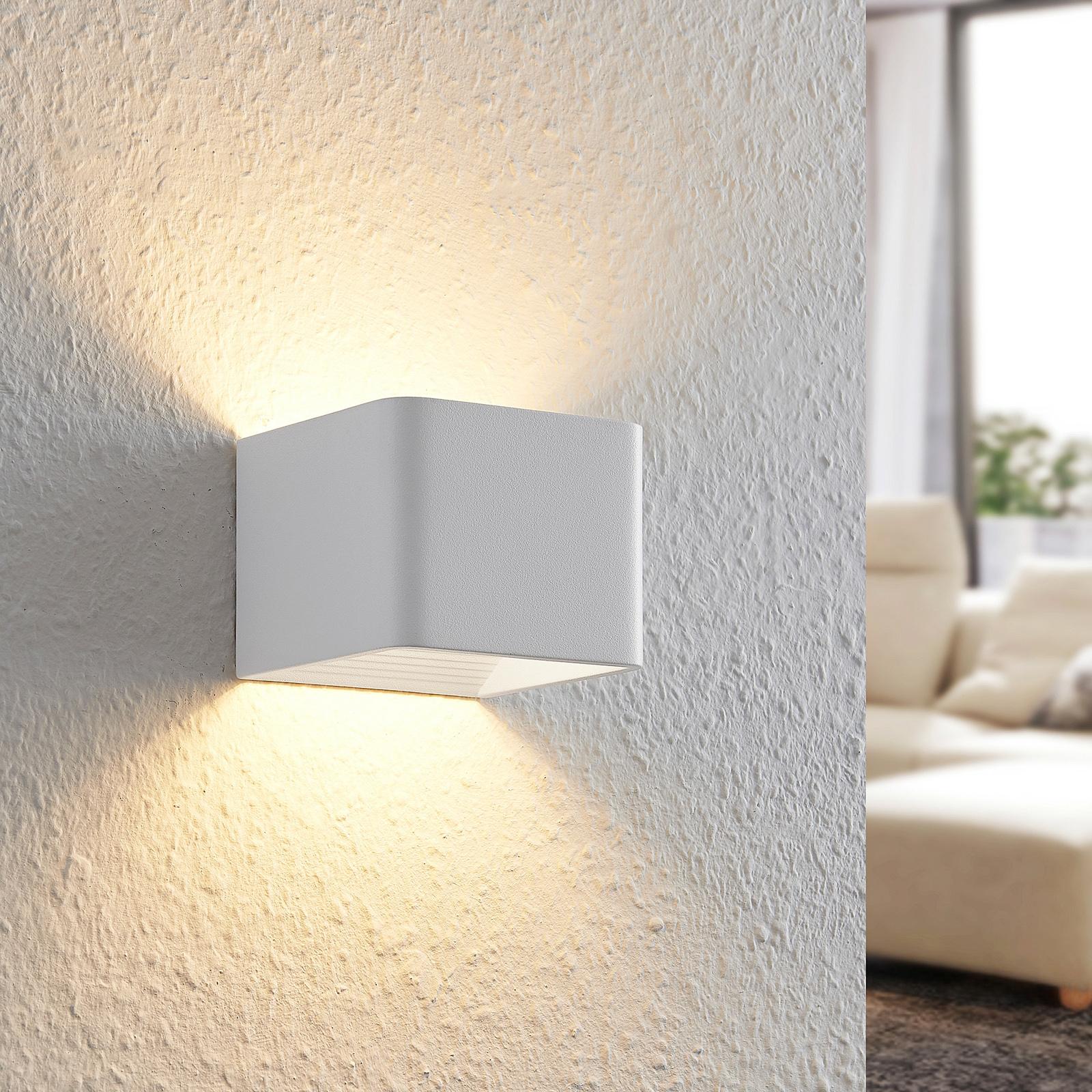 Arcchio Karam -LED-seinävalaisin, 10 cm, valkoinen
