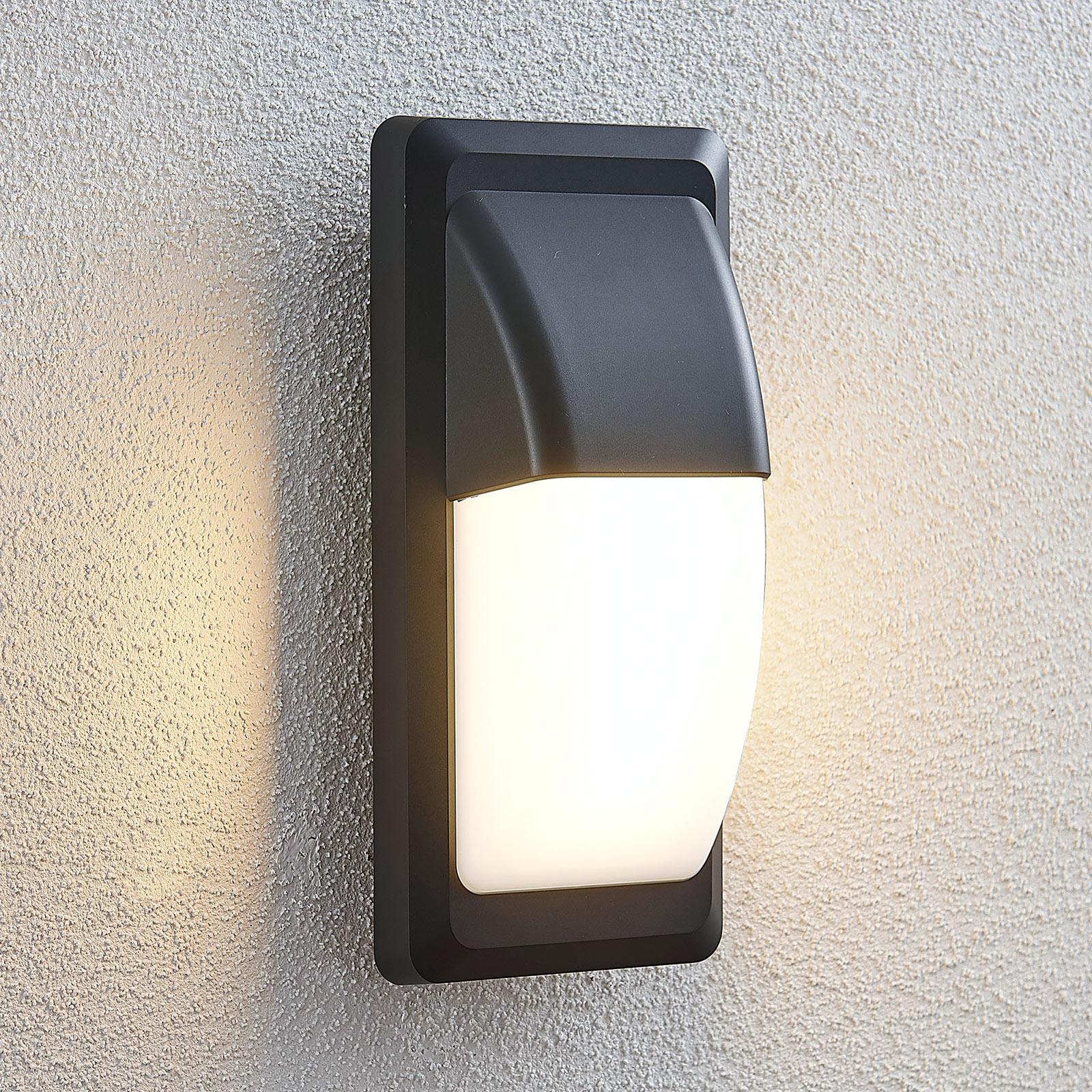LED-ulkoseinävalo Nikan, IP65, tummanharmaa
