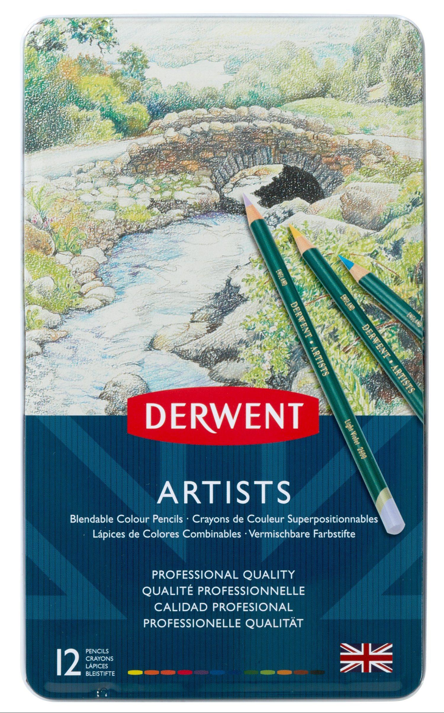 Derwent - Artists Pencils, 12 Tin