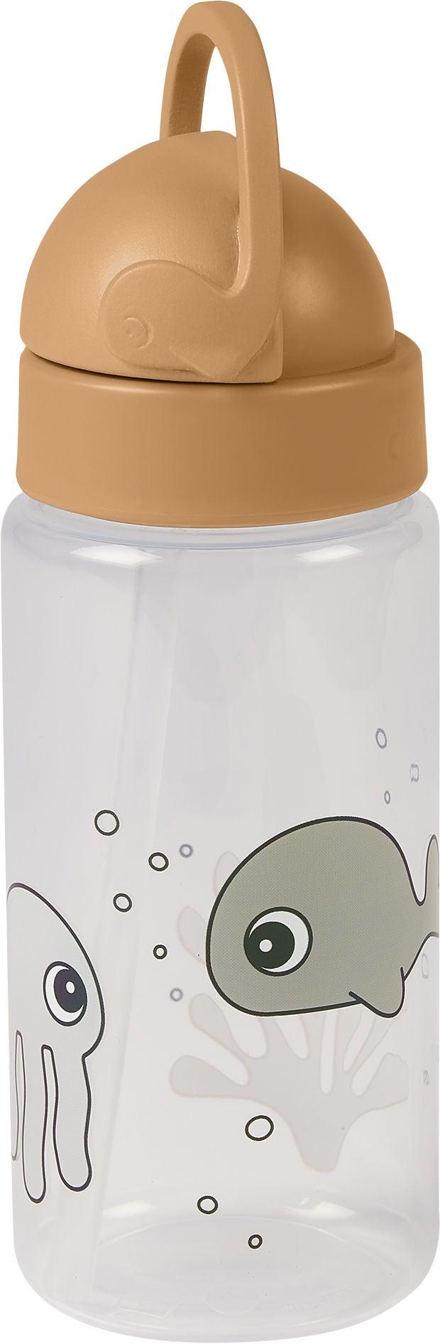 Done by Deer Flaska med Sugrör Sea Friends, Mustard/Grey