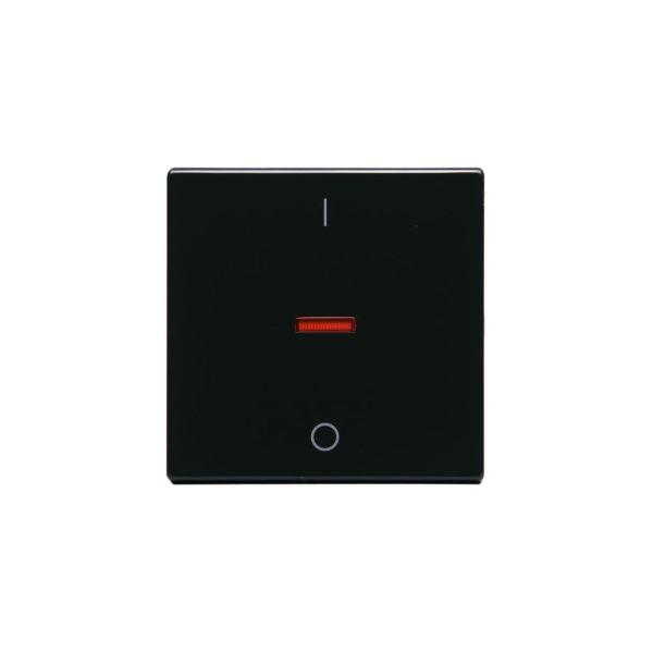 ABB 1788-81 Yksi kosketin 1-suuntainen, punainen linssi, 1/0 Antrasiitti