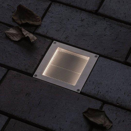 Paulmann Brick innfelt LED-gulvlampe, 10x10cm