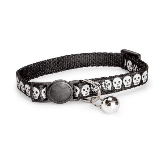 Basic Cat Reflective Halsband Dödskalle Svart