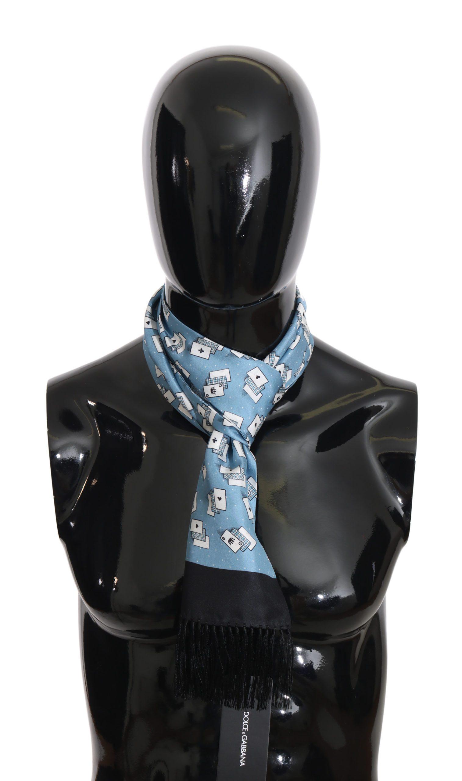 Dolce & Gabbana Men's Scarf Blue MS2344