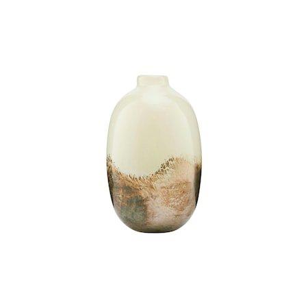 Vase Earth Beige/Metallic 16 cm