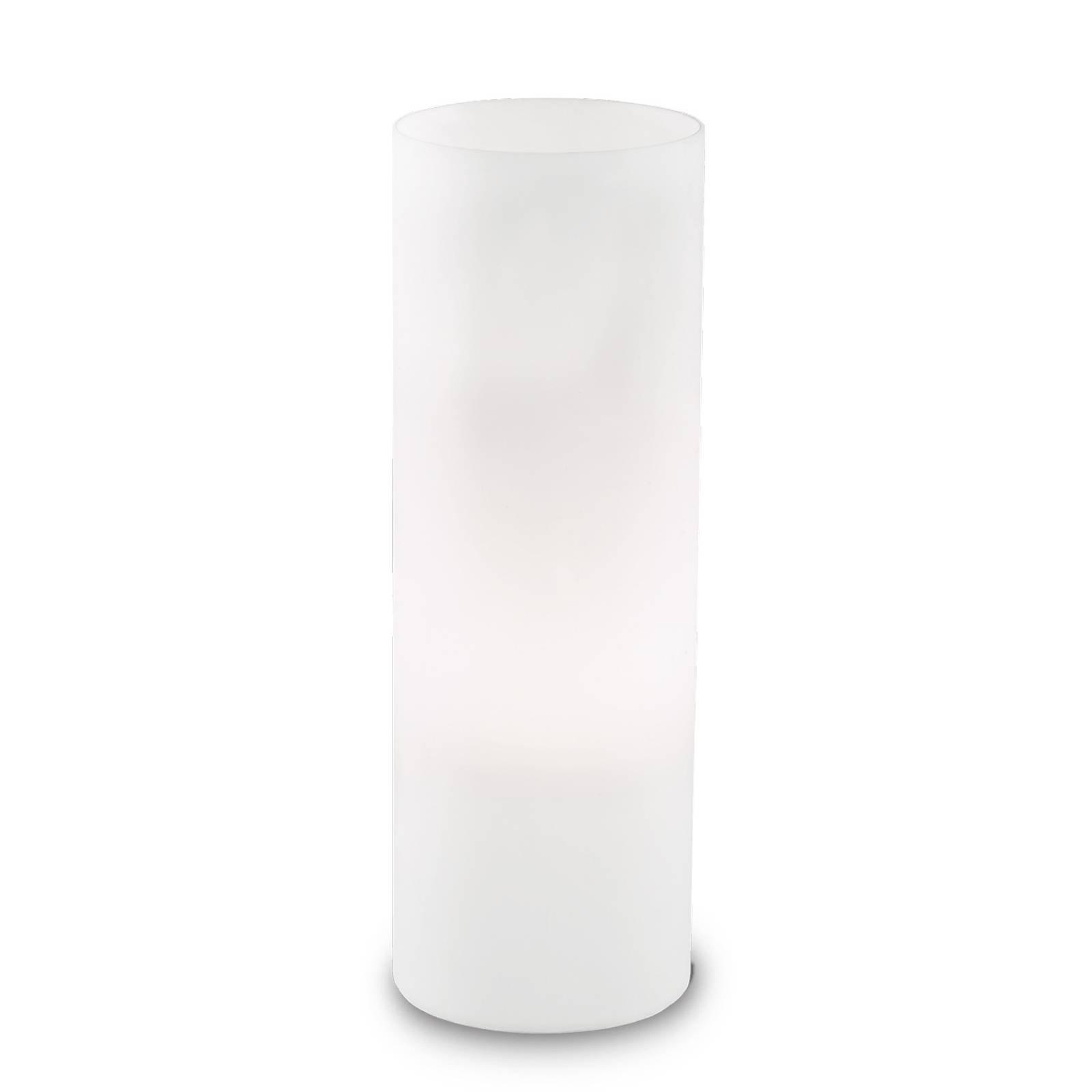Bordlampe Edo av hvitt glass, høyde 35 cm