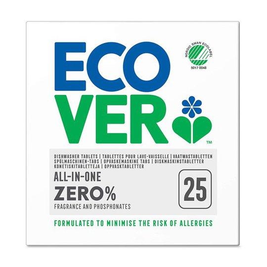 Ecover Parfymfritt Maskindiskmedel All-in-One Zero, 25 tabletter