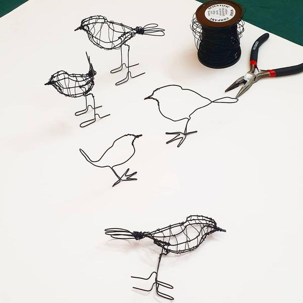 At Home: Create Wire Sculptures + Pre-recorded Workshop
