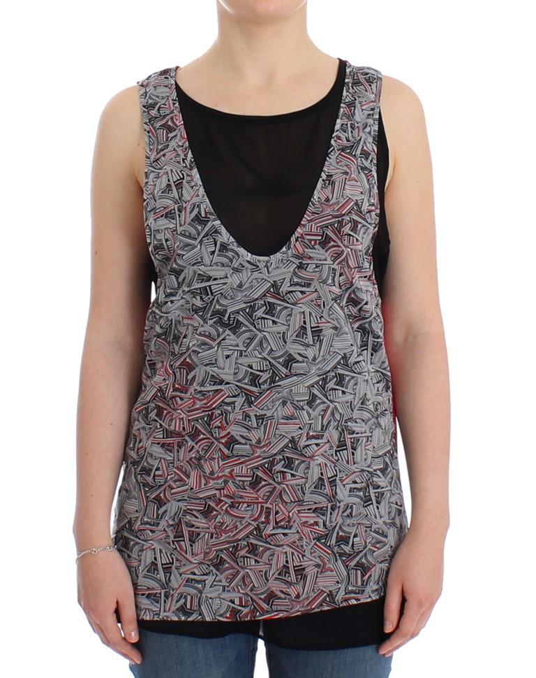 Costume National Women's Sleeveless Top Black SIG12530 - XL