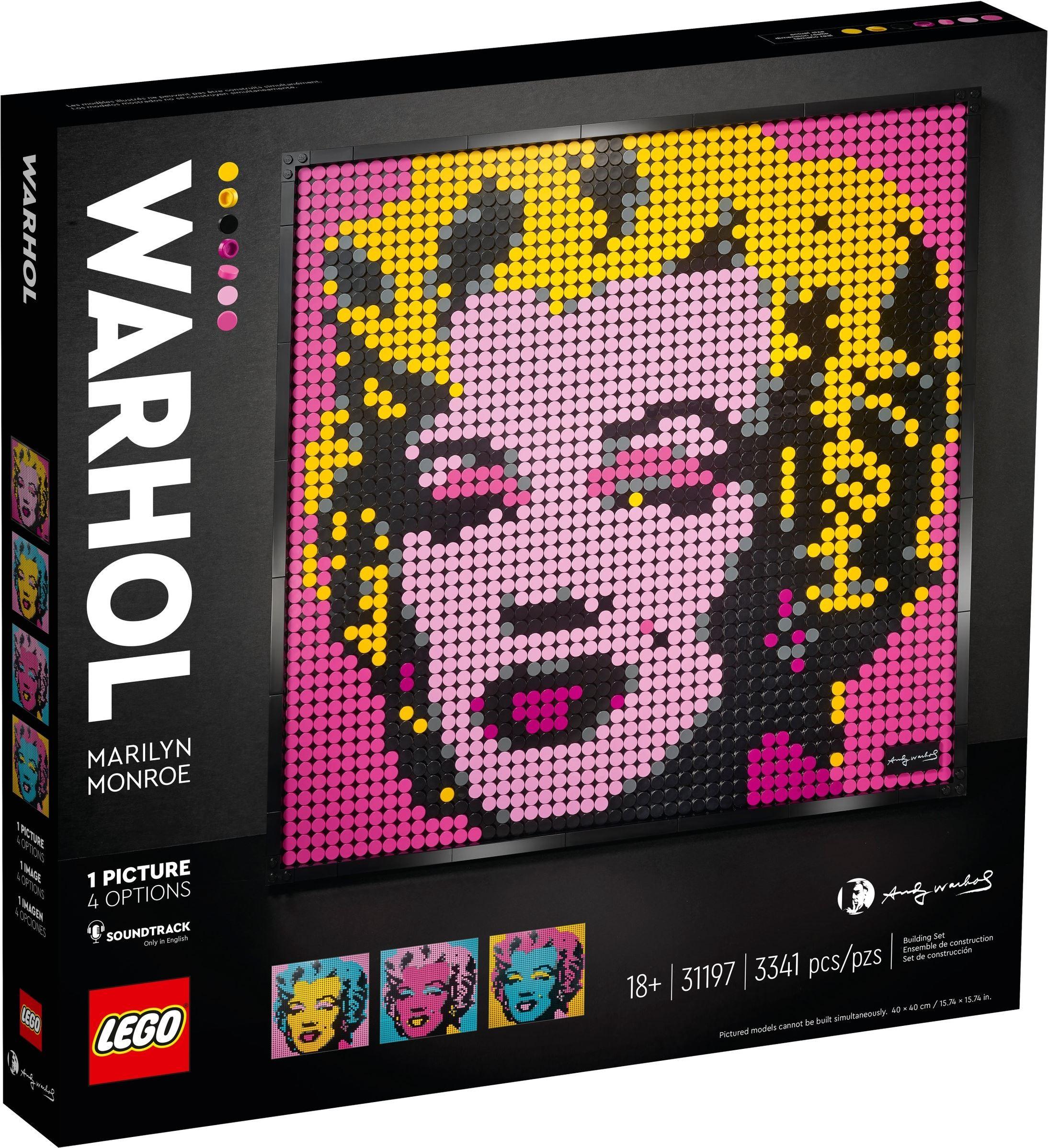 LEGO Art - Andy Warhol's Marilyn Monroe (31197)